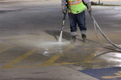 Asphalt dustless blasting accurate pavement striping