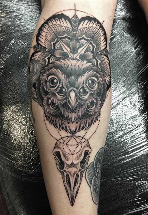 owl tattoo dotwork mark lonsdale
