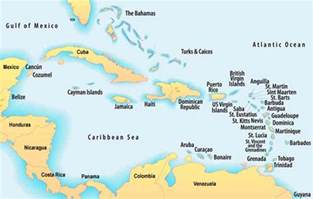 southern caribbean map middle east map