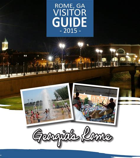 2015 visitor guide by greater rome convention visitors