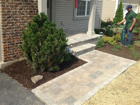 new landscaping brick walkway with new landscaping in lake landscaping and hardscaping brick work paver
