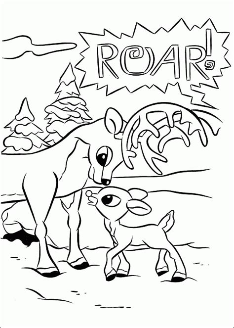 Rudolph The Red Nosed Reindeer Coloring Pages Rudolph Reindeer Coloring Pages