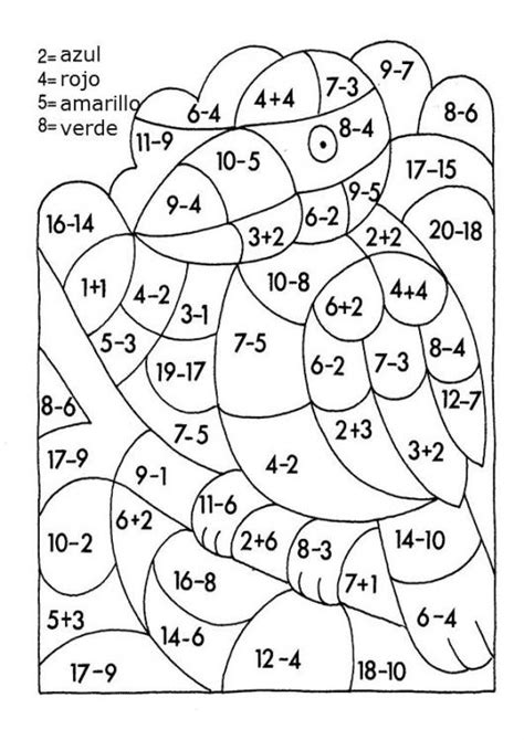 imagenes con operaciones matematicas para colorear imagenes de sumas y restas con dibujos para colorear imagui