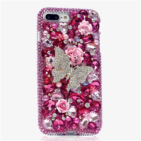 Casing Cover Custom Casing Oppo F1s Iphone Samsung Xiaomi Dll bling cases custom made butterfly crystals for