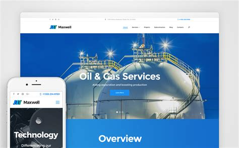 Oil And Gas Company Wordpress Theme And Gas Company Website Template