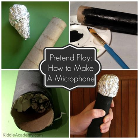 How To Make Paper Microphone - pretend play make a microphone family essentials