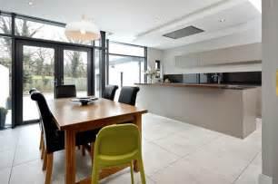 Single Pendant Lighting Over Kitchen Island Extension To Semi Detached House Bangor Northern Ireland