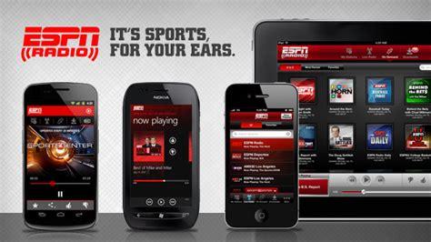 espn mobile app espn radio on your mobile device espn radio espn