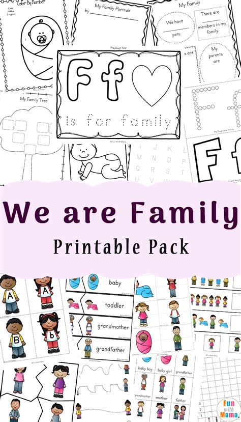kindergarten worksheets about family worksheets on my family for kindergarten them