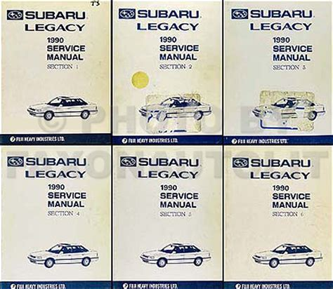 manual repair autos 1990 subaru legacy head up display 1990 subaru legacy repair shop manual set original