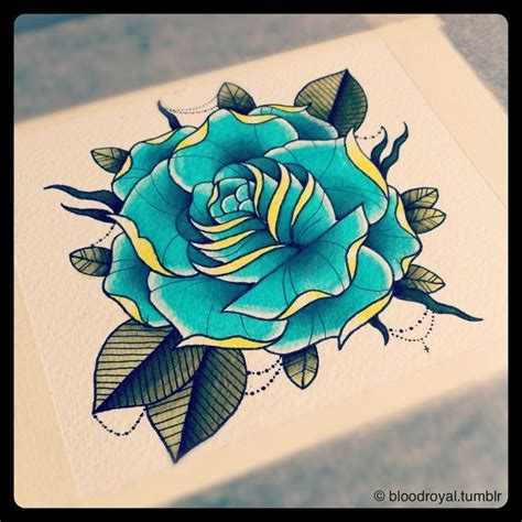 traditional rose tattoo flash blue flash flash blue roses