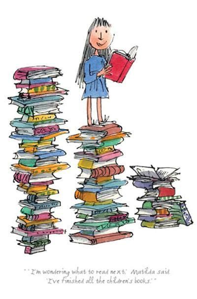 libro illustrations now illustration now i m wondering what to read next matilda limited edition numbered print by quentin blake