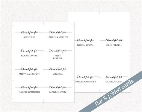 Thanksgiving Seating Card Template by Thanksgiving Place Cards 183 Wedding Templates And Printables