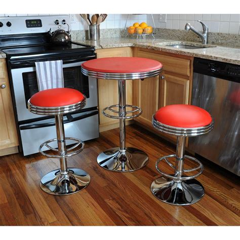 Vintage Bar Table And Stools Amerihome 3 Bar Table Set Bsset26 The Home Depot