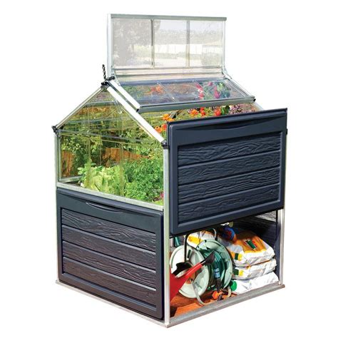 Small Greenhouses Home Depot Palram Plant Inn 4 Ft X 4 Ft Polycarbonate Greenhouse