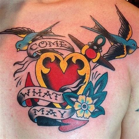 tower classic tattoo chest by b madebylauren tct at tower