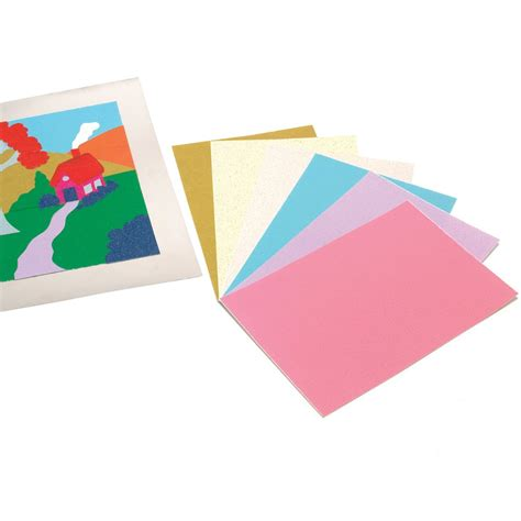 Glitter Paper For Card - pastel glitter paper a5 12 sheets card paper from
