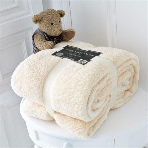 teddy fleece decke luxury size soft fleece blanket teddy throw for