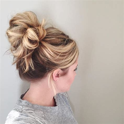 five cute and easy bun hairstyles for when you re in a hurry