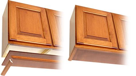Crown Molding For Kitchen Cabinet Tops finishing rta cabinets keystone wood specialties