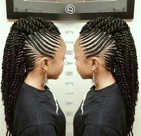 african american kids braided in mohawk mohawk senegalese twist braids more pinterest