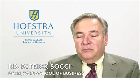 Hofstra Mba Review by Dr Socci Dean Frank G Zarb School Of Business