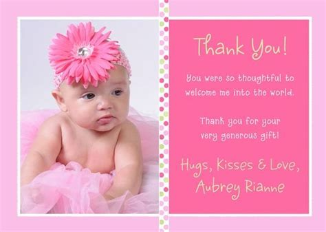 thank you letter newborn gift baby thank you card wording thank you cards for baby