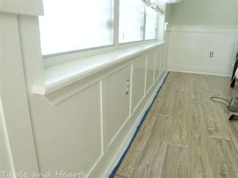Board And Batten Wainscoting Ideas by Our Diy Board And Batten Wainscoting Table And Hearth