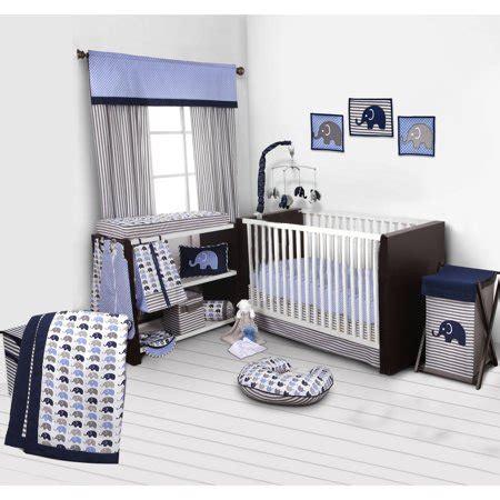 nursery in a bag crib bedding set bacati elephants blue gray 10 nursery in a bag crib bedding set 100 cotton percale boys