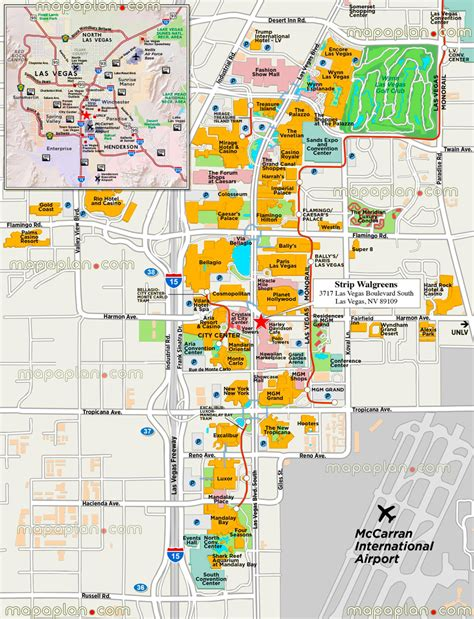 map of las vegas attractions maps update 14882105 tourist attractions map in las