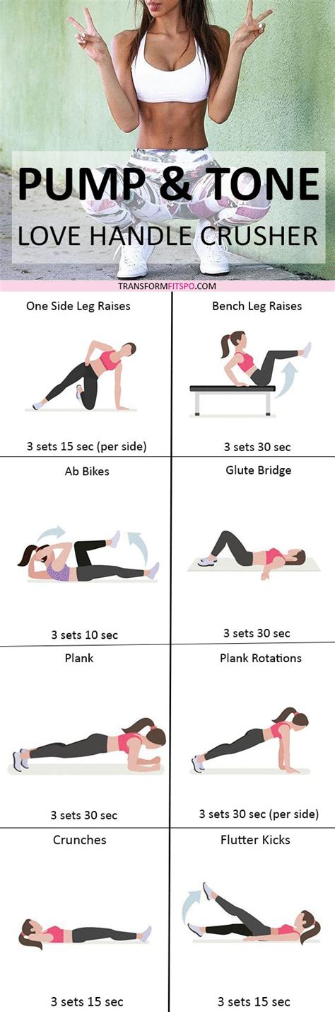 best 25 workouts for handles ideas on