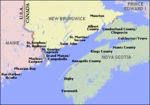 bay of fundy world map below is a map summary