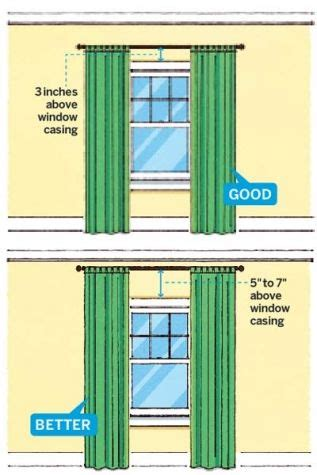 height of curtains 1000 ideas about hanging curtains on pinterest hang