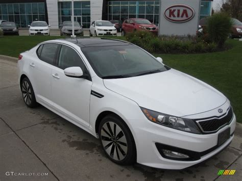 Kia Optima 2012 White 2012 Snow White Pearl Kia Optima Sx 55488272 Gtcarlot