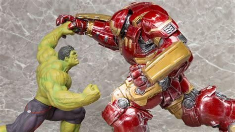 Original Kotobukiya Vs Hulkbuster Set kotobukiya hulkbuster iron artfx statues revealed marvel news