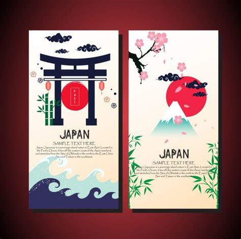 japanese panel card templates card cover templates japan design elements decoration free