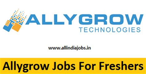 Recruitment For Mba Freshers by Allygrow For Freshers Apply Freshers