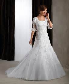 Collection of modest wedding dresses with 3 4 sleeves cherry marry