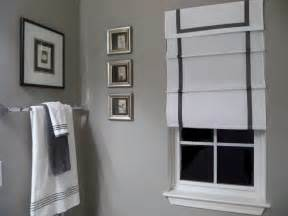 gray bathroom decorating ideas southgate residential diy ribbon edged roman shades