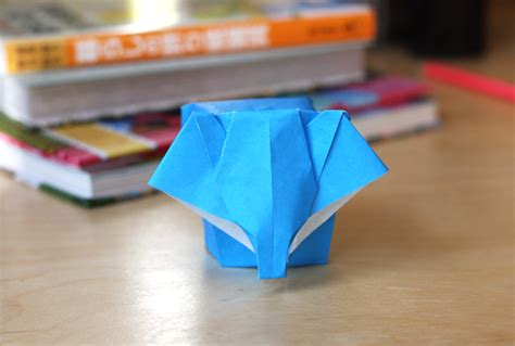 Make Paper Elephant - origami elephant how about orange