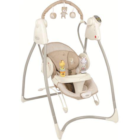 graco baby swing chair balancelle b 233 b 233 swing n bounce 2 mix n mobe inclus benny