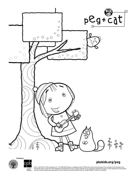 peg cat coloring sheet peg cat pinterest cats