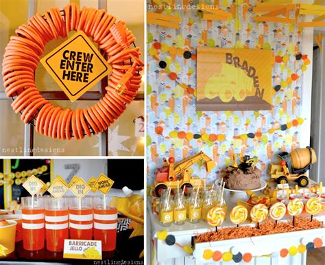 love themed events construction themed boy birthday party via karas party