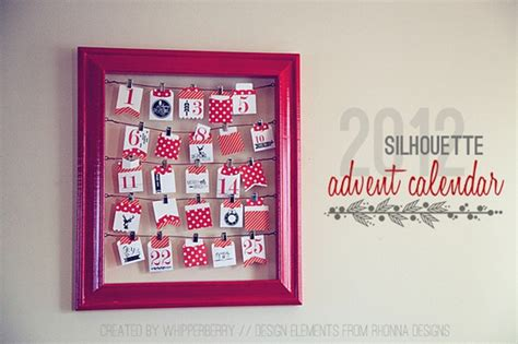 design advent calendar limited edition silhouette advent calendar whipperberry