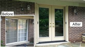 Replacing Patio Door Glass Replace Sliding Glass Patio Door With Provia Heritage Fiberglass Door Retractable Screen