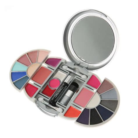 Make Up Wardah Fullset silver compact mirror makeup set s