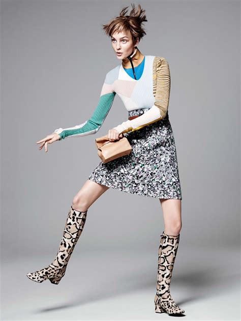 patterned fashion caroline trentini vogue