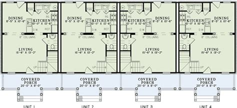 4 Unit Multi Family House Plans by 4 Unit Multi Family Home Plan 60559nd 2nd Floor Master