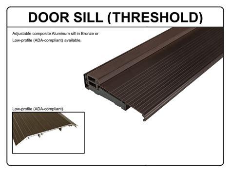 composite thresholds doors adonized bronze threshold