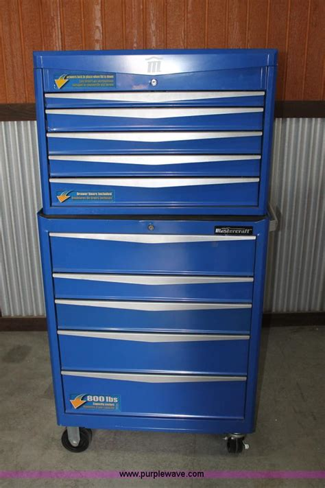 mastercraft tool chest drawer organizer mastercraft rolling toolbox with top box no reserve